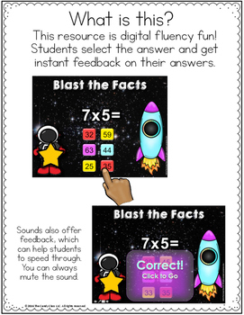 Digital Math Fluency Practice - 38 Decks for Multiplication and Division Facts