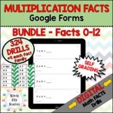 Math Facts - Digital Multiplication Drills BUNDLE Google Forms Distance Learning