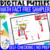 Math Facts Digital Puzzles Activity | Math Fact Practice |
