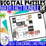 Math Facts Digital Puzzles Bundle   Math Fact Practice   D