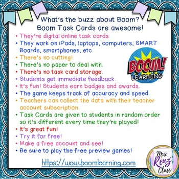 Multiplication Facts Digital Task Cards AND Paper Math Fact Assessments 10 sets