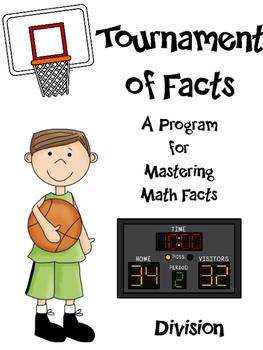 Math Facts - Division Fact Fluency Program Basketball Themed