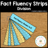 Math Fact Fluency Strips Division Flashcards