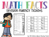 Math Facts: Division Fluency Tickets