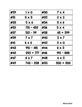 Math Facts Egg Hunt