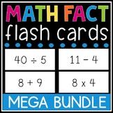 Math Facts Flash Card Bundle (Addition, Subtraction, Multiplication, Division)