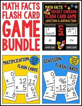 Math Facts Flash Card Game Bundle