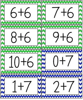 Math Facts Flash Cards Addition