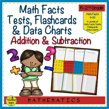 Math Facts Flash Cards, Tests & Data Sheets