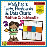 Math Facts Addition & Subtraction 0-20: Tests, Flashcards & Data Charts
