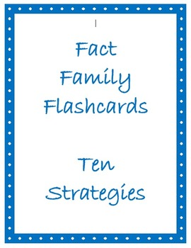 Math Facts Flashcards - Adding & Subtracting Ten