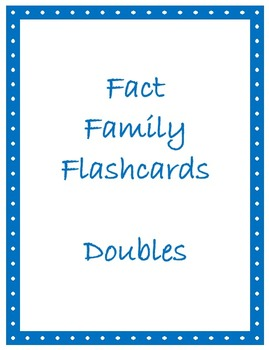 Math Facts Flashcards - Doubles Facts