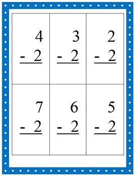 Math Facts Flashcards - Facts for One, Two & Three (Count On/Back)
