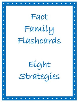 Math Facts Flashcards - Facts of Eight