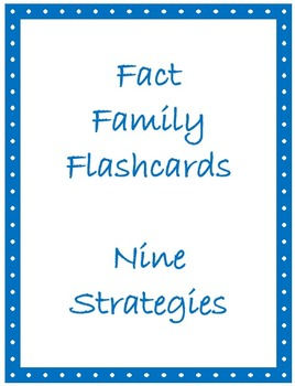 Math Facts Flashcards - Facts of Nine