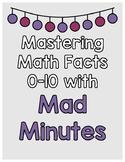 Math Facts Fluency 0-10