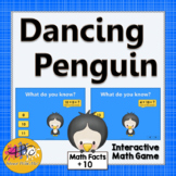 Math Facts Fluency +10 Interactive Addition Game {Dancing Penguin}
