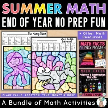 Math Facts Fluency Bundle: Math Center Activities for Addition & Subtraction
