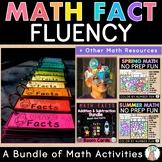 Math Facts Fluency Bundle: 1st & 2nd Grade Math Centers - Addition & Subtraction