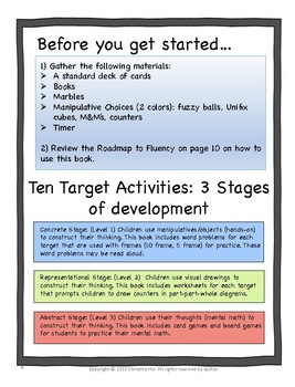 Math Facts Fluency Addition and Subtraction Teacher/Parent Guide