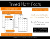 Math Facts Fluency-Addition timed tests