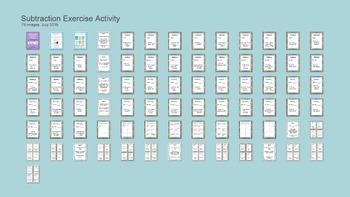 Math Facts Fluency Kinesthetic Exercise Activity BUNDLE