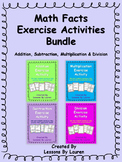 Math Facts Fluency Kinesthetic Exercise Activity BUNDLE