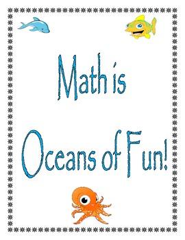 """Math Facts Fluency - """"Math is Oceans of Fun!"""""""