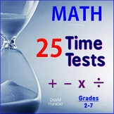 Math Facts Fluency Timed Tests + 90 Calculator Riddles