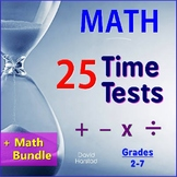 Math Facts Fluency Timed Tests + Math Bundle