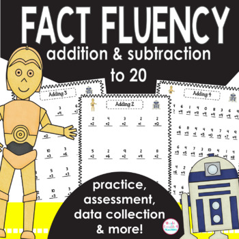 Math Facts Fluency Unit-May the Force Be With You! {Addition and Subtraction}