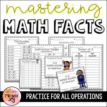 Math Fact Fluency Practice for All Operations