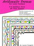 Math Facts Frames - 0-9 Addition