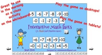 Math Facts Game