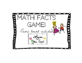 Math Facts Game Freebie! game board included!