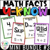 Math Facts Games Mini U-Know Bundle 3 | Math Test Prep Rev