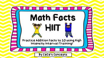 Brain Break Fun! Math Facts HIIT