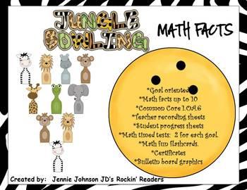 Math Facts: Jungle Bowling- Up to 10