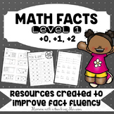 Math Facts Level 1 Fact Fluency +0, +1, +2