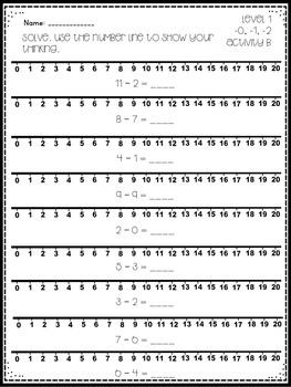 Math Facts Level 2 Fact Fluency -0, -1, -2