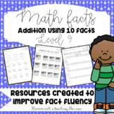 Math Facts Level 9 Fact Fluency Addition Using Ten Facts