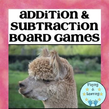 Math Board Games: Llama Know My Math Facts