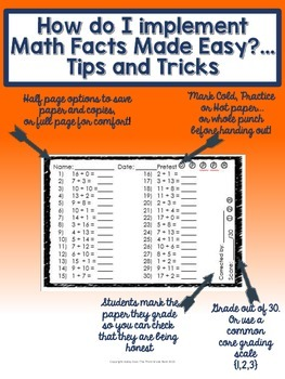 Math Facts Made Easy: Mixed Operation (+/-) Edition