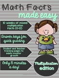 Math Facts Made Easy: Multiplication Edition