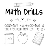 Math Facts Math Drills
