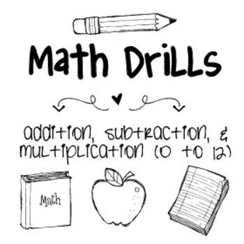 Math Facts Math Drills
