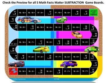 Game Boards SUBTRACTION Bundle