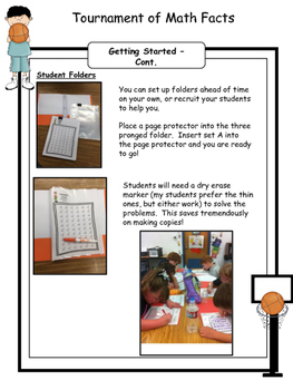 Math Facts - Multiplication Fact Fluency Program Basketball Themed