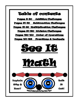 Math Facts Number Sense Talk  Math Challenges