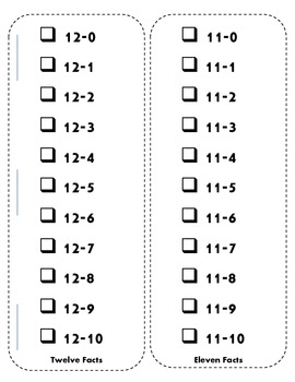 Math Facts Pocket / Sticker  Books